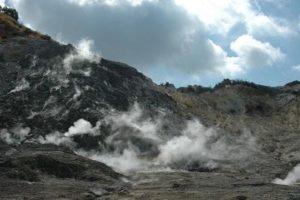 Dormant volcano Solfatara in south Italy