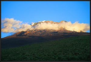 Dormant volcano Mount Kilimanjaro in east Africa