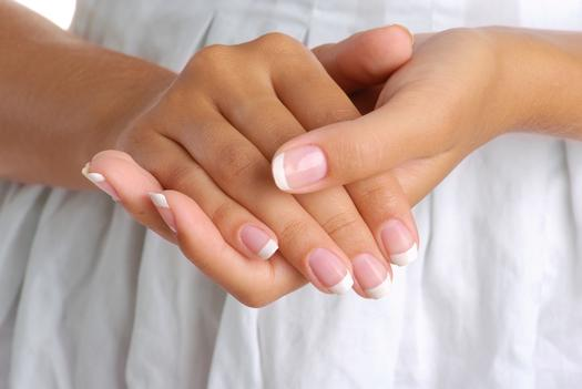 french manicured hands