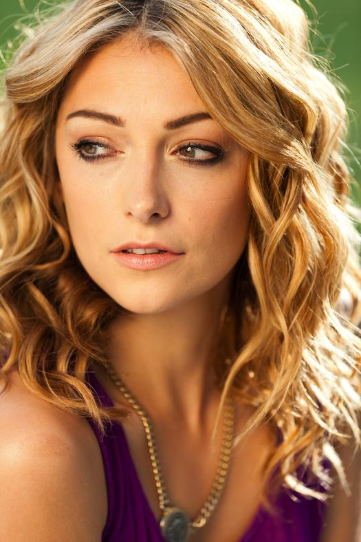 blonde woman with wavy hair