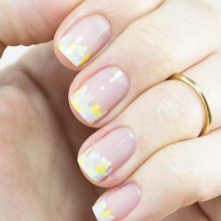 floral tips french manicure
