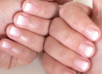 ombre white french manicure