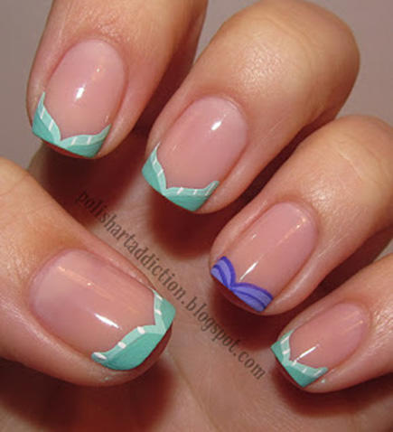 mermaid tail french manicure