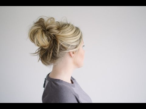 How to Create a Quick High Messy Bun