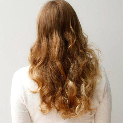 hairstyle with sock curls