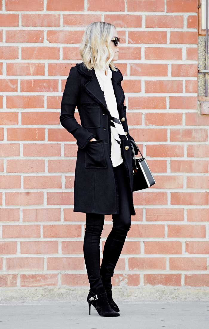 classic minimalist Jacey Duprie Damsel in Dior ankle boots