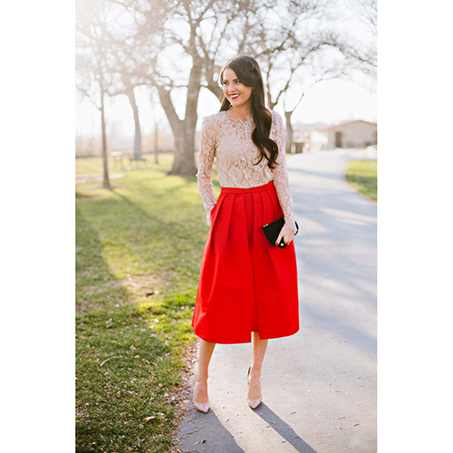 Girstunm Pleated Skirt
