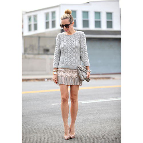 Halen Embellished Mini Skirt