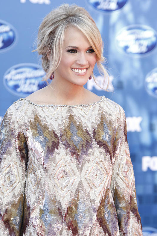 carrie underwood face framing updo