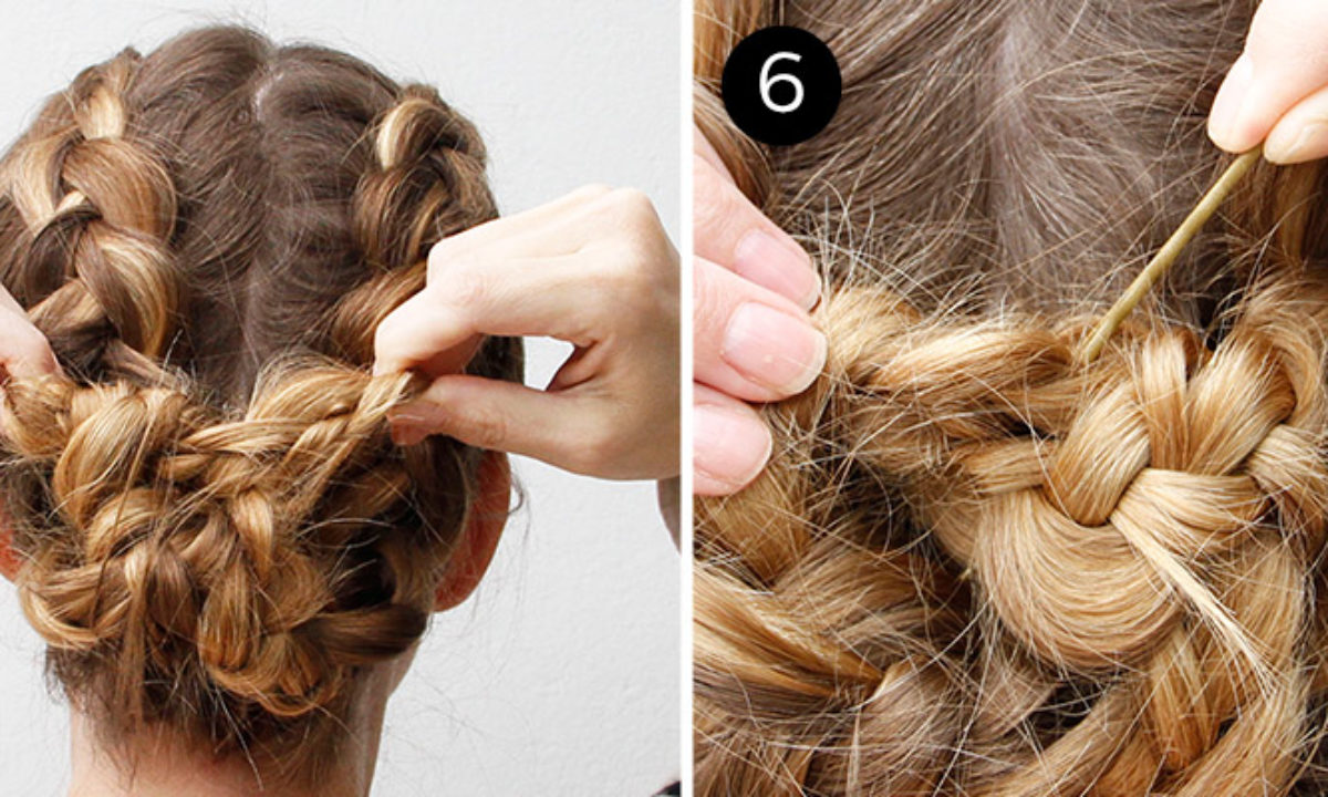 Two Dutch Braids Make One Easy Updo More