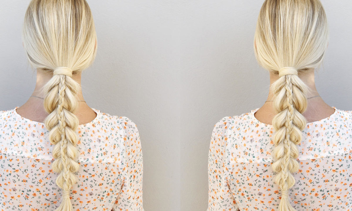 This Pull-Through Ponytail/Braid Combo is Simply Stunning