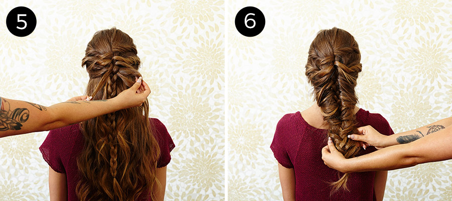 mermaid braid steps 5-6