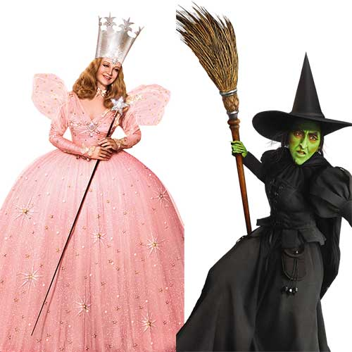 glinda the good witch wicked witch of the west wizard of oz halloween costumes bff