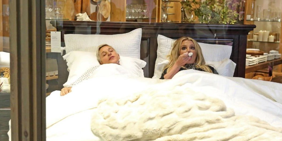 Here's Proof Britney Spears And Ellen Degeneres Should Never Be Allowed In A Mall