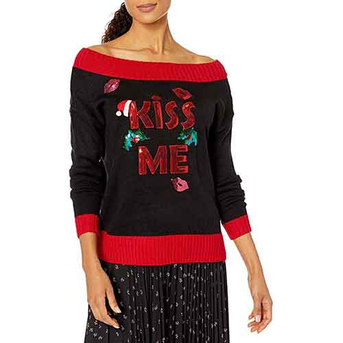 Blizzard Bay Kiss Me Ugly Christmas Sweater
