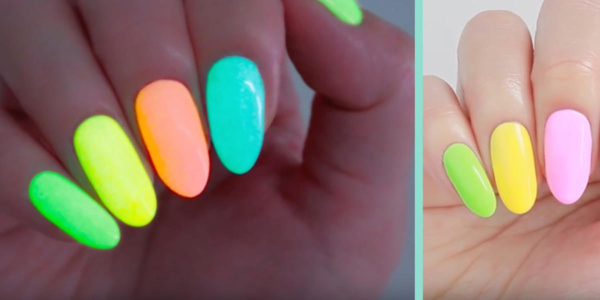 How To Make The Easiest DIY Glow-In-The-Dark Nail Polish Ever