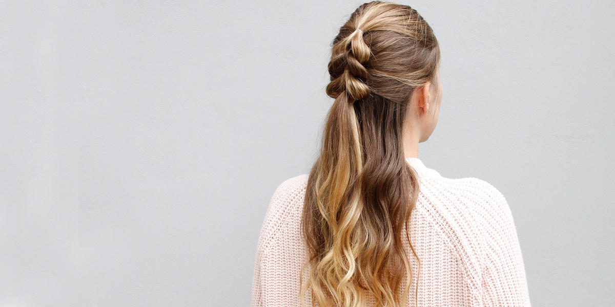 You Need To Try This Half-Up Pull-Through Braid Now