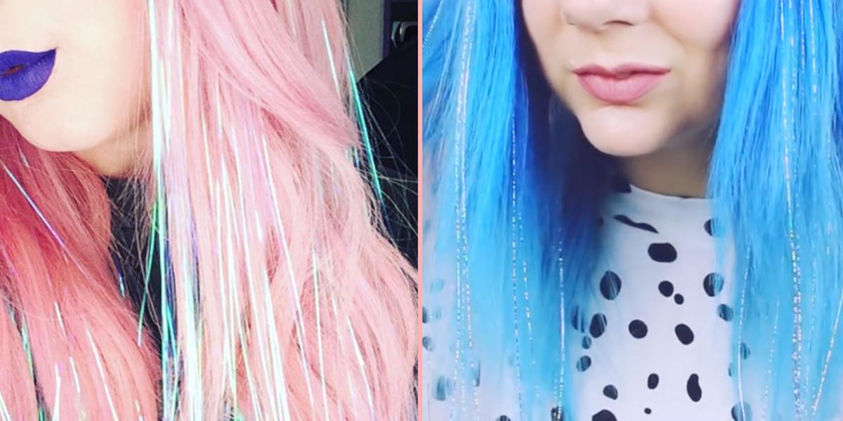 Sparkly Tinsel Hair Is Your New Go-To Christmas Party Look