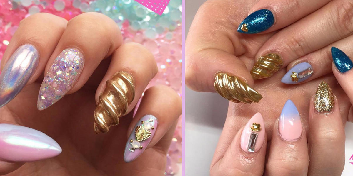 Unicorn Horn Nails Are Bringing Mystical Magic To Your Manicure
