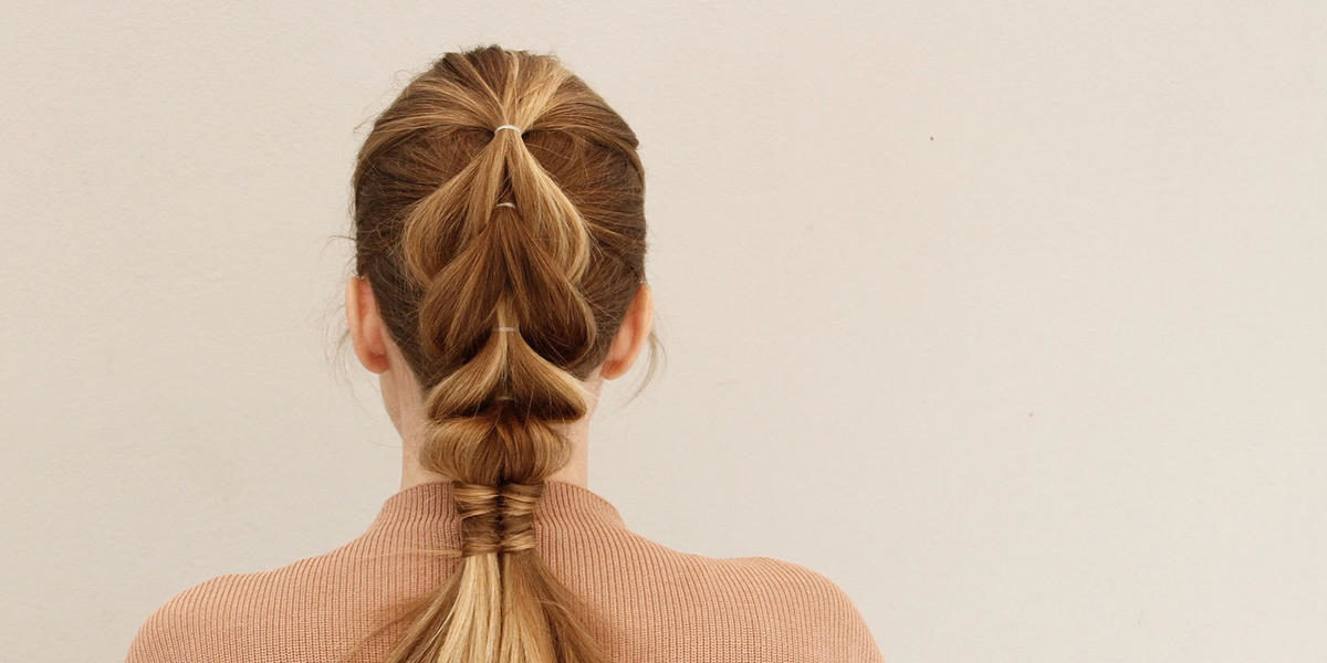 Add Edge To Any Look With This Easy Pull-Through And Infinity Braid Updo