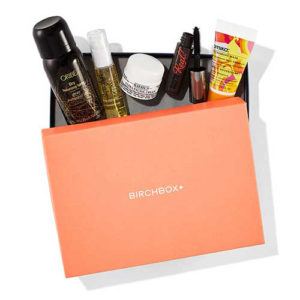 Birchbox beauty box with beauty products
