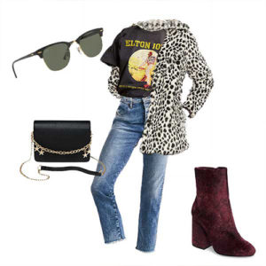 Live concert date night look for Valentine's Day