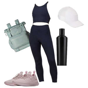 Valentine's Day hike outfit