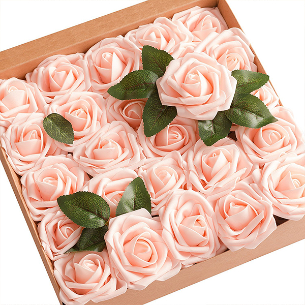 Ling's moment Artificial Blush Roses