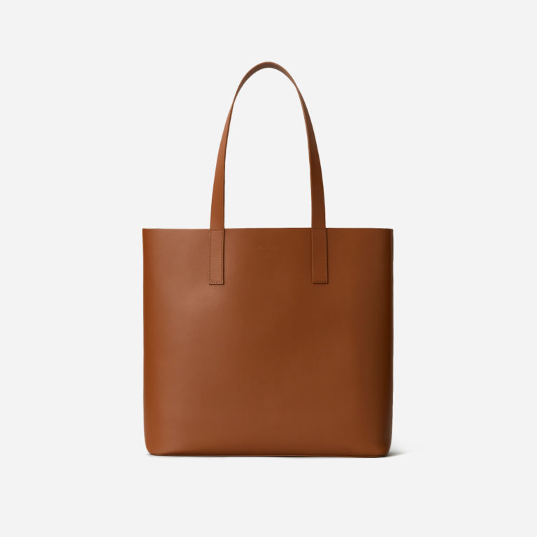 Everlane The Day Square Tote in Cognac