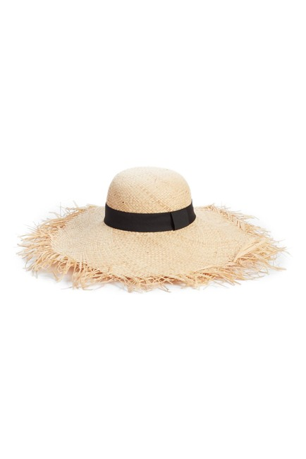 BP. Raw Edge Floppy Straw Hat