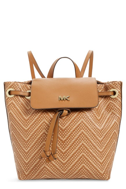 MICHAEL MIchael Kors Medium Junie Woven Leather Backpack