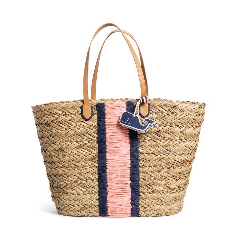 Vineyard Vines for Target Straw Beach Bag with Whale Fob