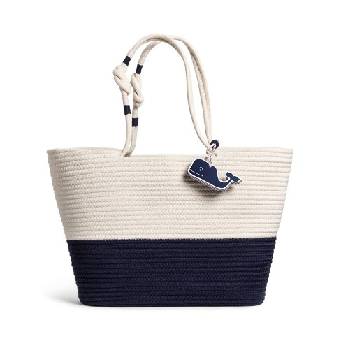 Vineyard Vines for Target Rope Beach Bag with Whale Fob
