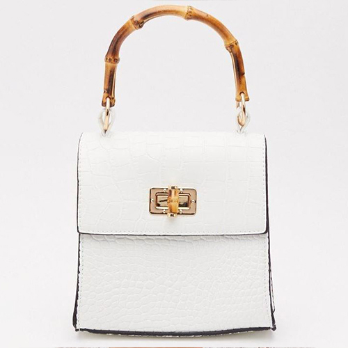 Croc Around the Clock Faux Leather Structured Bag