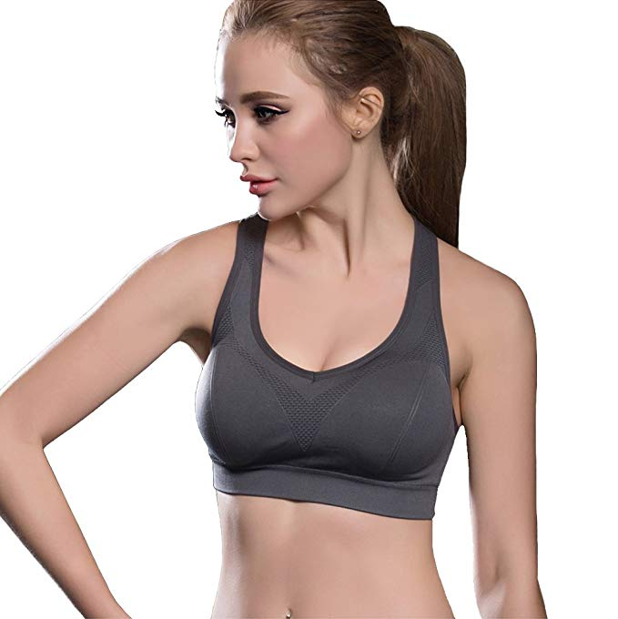 FITTIN Racerback Sports Bras in Gray