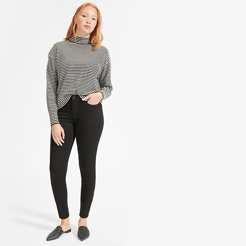 Everlane Authentic Stretch High-Rise Skinny Button Fly