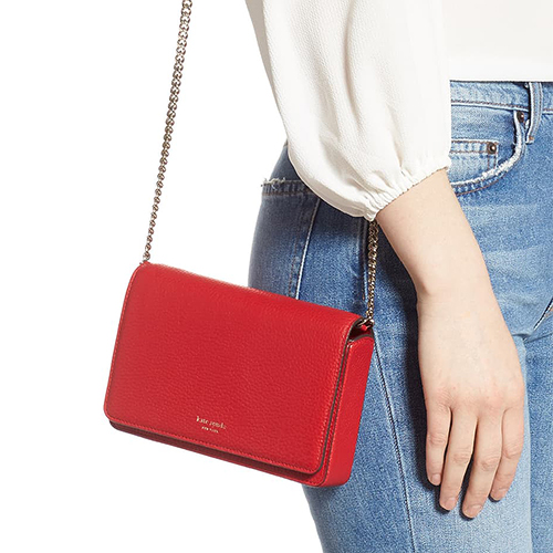 Kate Spade Shirley Leather Chain Wallet Crossbody Bag