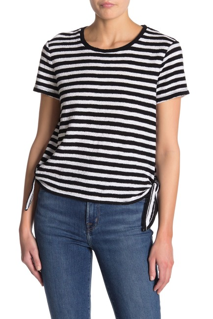 Madewell Modern Stripe Side-Tie T-Shirt