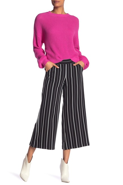 Max Studio Striped Wide Leg Crop Pants