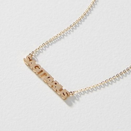 Sister Squared Zodiac 14K Gold-Plated Necklace