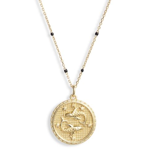 Argento Vivo Zodiac Necklace in 14K Gold-Plated Sterling Silver