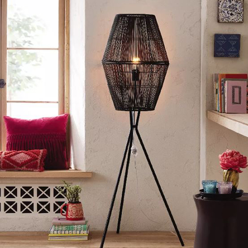 Opalhouse Rattan Diamond Tripod Floor Lamp