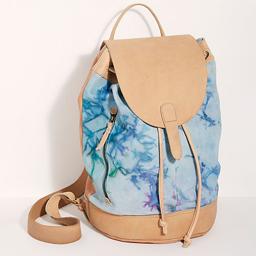 FP Collection Tie-Dye Mixed Material Backpack