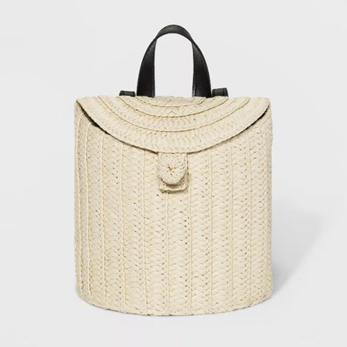 A New Day Straw Basket Backpack