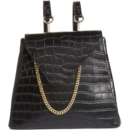 8 Other Reasons x Jill Jacobs Croc Embossed Leather Backpack