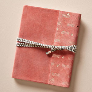 Red bound journal from Anthropologie