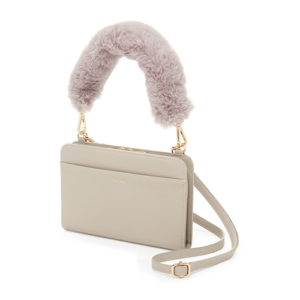 Stone colored Calpak crossbody wallet bag