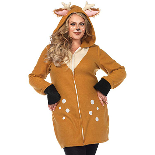 Hooded Cozy Fawn Costume