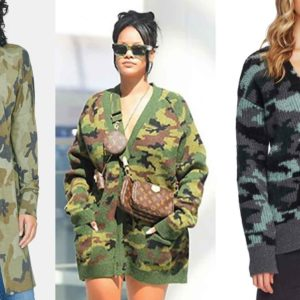 Rihanna Rocked a Chic Camo Cardigan (and Nothing Else) at the Airport…