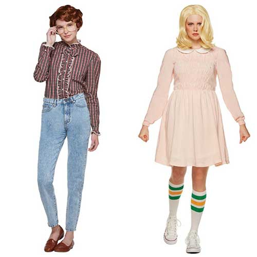 Barb Eleven Stranger Things Halloween costumes BFF